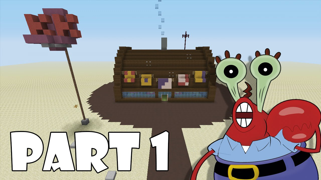 how to build the krusty krab in minecraft part 1 youtube