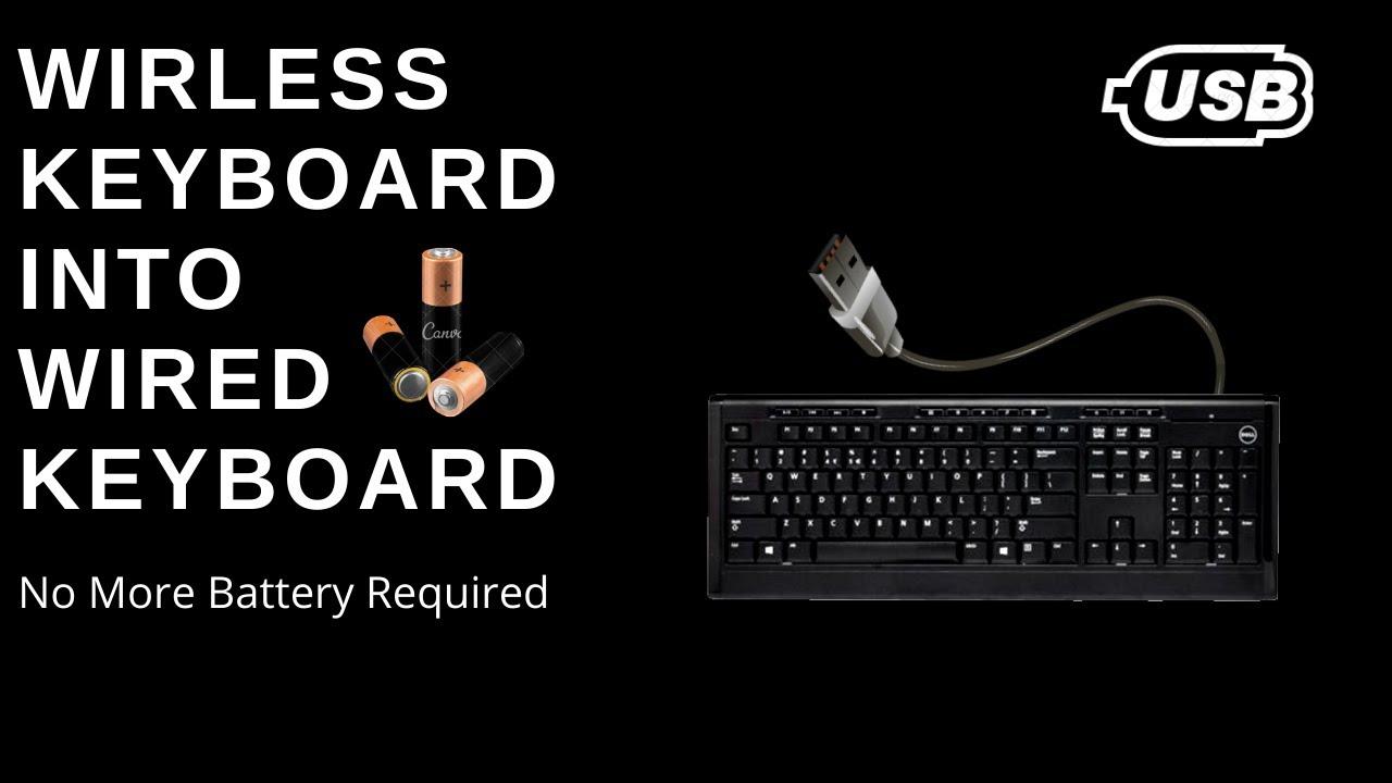 Kablosuz klavyeyi kablolu yapmak! Yardımcı olur musunuz?
