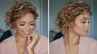 Heatless Curly Updo using Curlformers | Giveaway Closed | Ashley Bloomfield
