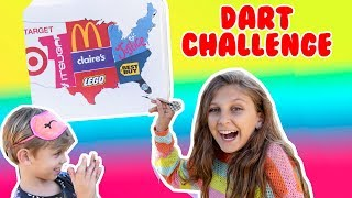 Throwing a Dart at a Map and BUYING EVERYTHING it Lands on! CHALLENGE