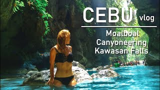 Cebu, Philippines VLOG 2 - Snorkeling in Moalboal, Badian Canyoneering, Kawasan Falls
