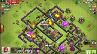 coc highest  loot attack.strategy th8 100%. loot.biggest loot dragon,baloon  attack