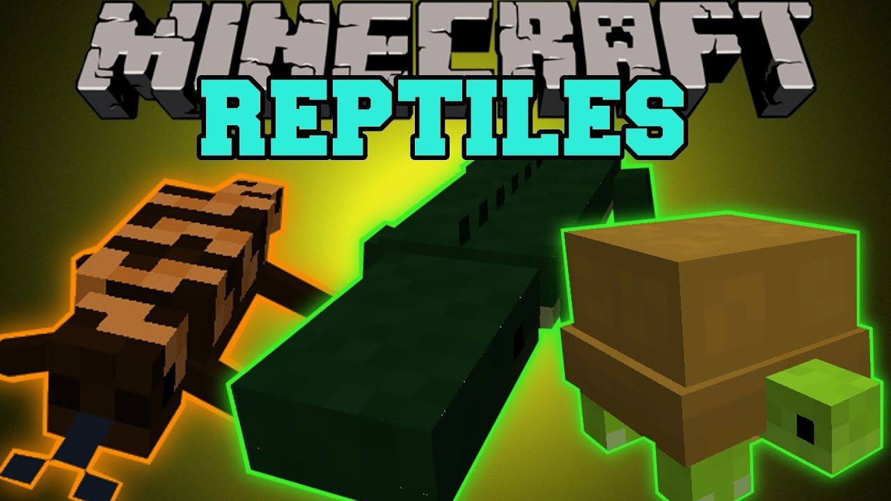 Minecraft: TURTLES, CROCODILES, LIZARDS, & MORE (NEW EPIC REPTILES AND  SPECIES!) Mod Showcase