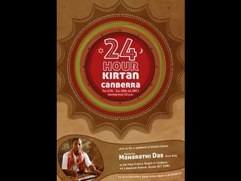 Hare Krishna Canberra 24 Hours Kirtan 2013 -  Janardan Kewin