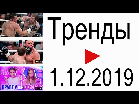 Тренды ютуба 1.12.2019 | GoB Channel , РЕН ТВ. Новости , Miller Eva