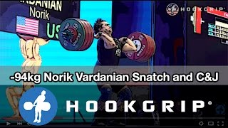 Norik Vardanian (94) - 171kg Snatch + 202kg Clean and Jerk American Record