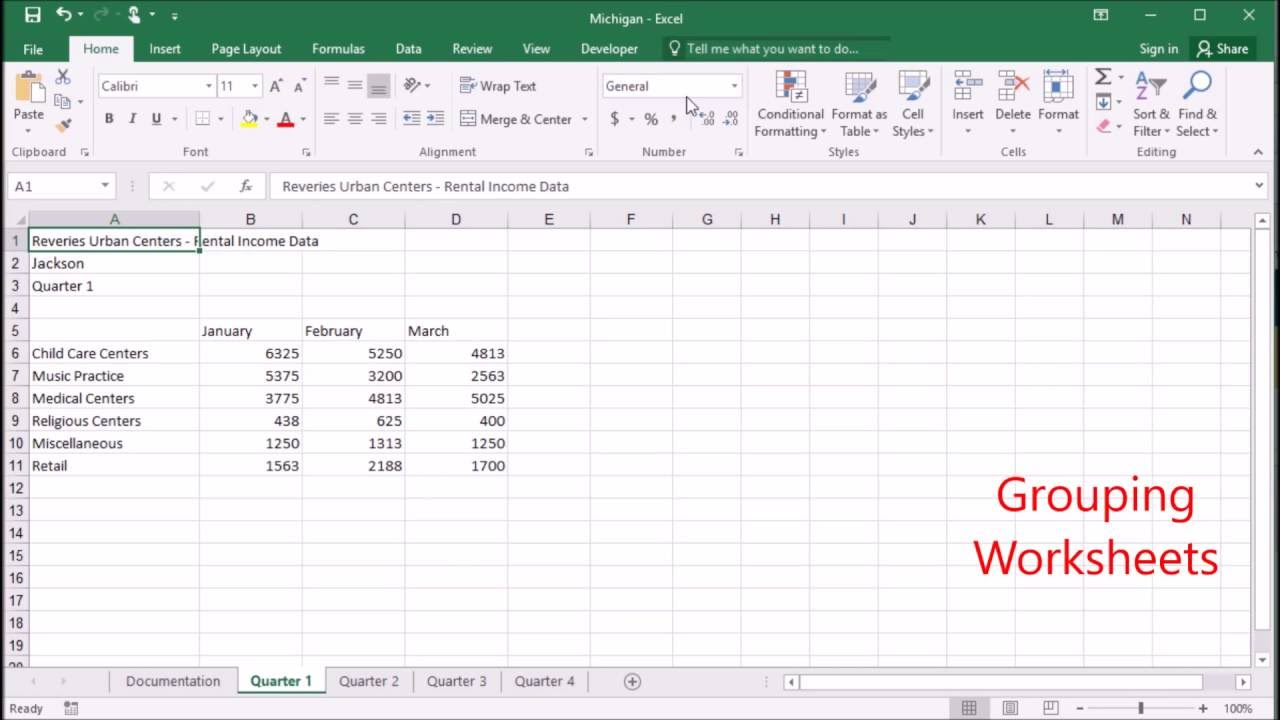 worksheet Grouping Worksheets In Excel 602 grouping worksheets in excel 2016 youtube 2016