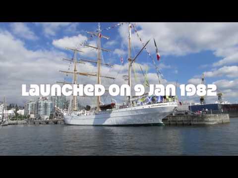 Cuauhtémoc sailing ship in Vancouver