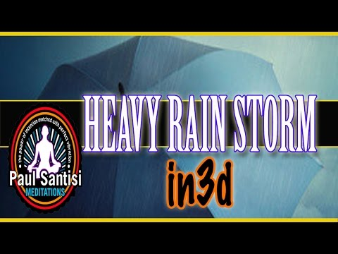 3D Sound Holophonic 2.5 Hours Heavy Rain Storm Over Boston R