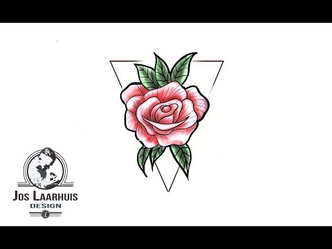 watch-how-to-draw-a-rose-tattoo-design---rose-tattoo-design