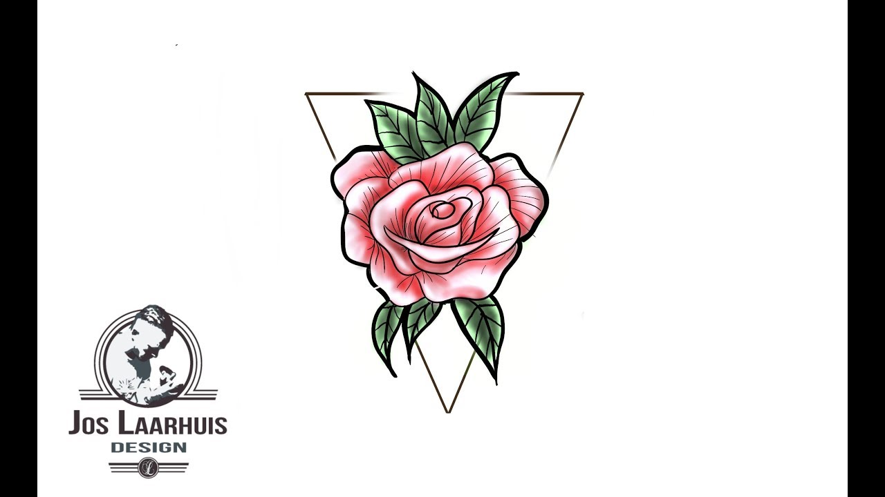 Watch How To Draw A Rose Tattoo Design Rose Tattoo Design