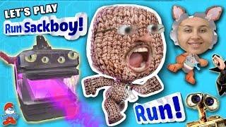 Let's Play RUN SACKBOY RUN!  What's a Turd Pole?  FGTEEV DAD & MOM Gameplay (Little Big Planet Fun!)