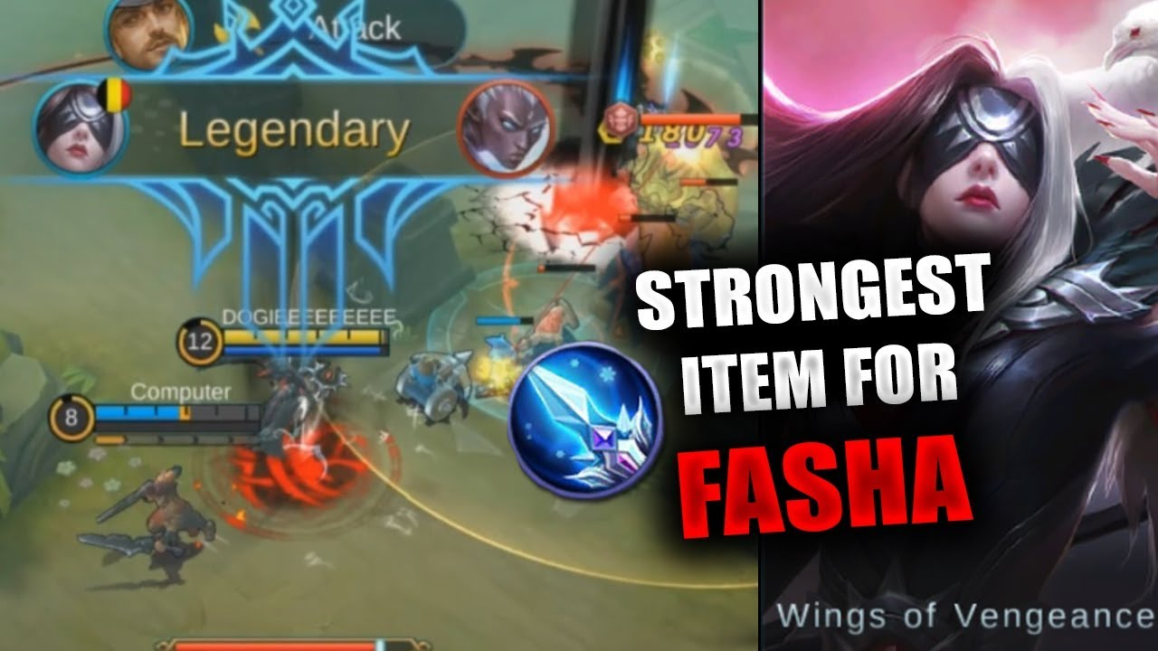 STRONGEST ITEMS FOR FASHA   MOBILE LEGENDS   2000 DIAMONDS GIVEAWAY   GUIDE    RANK   FASHA