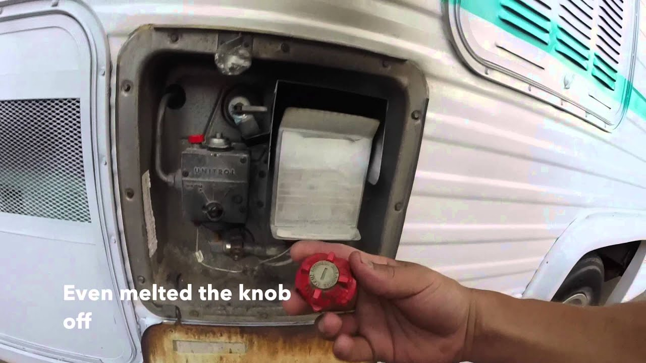Rv Water Heater Catches Fire Leak Youtube