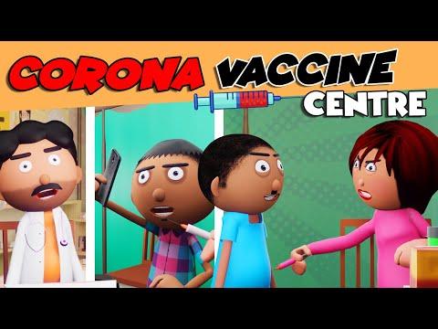 कोरोना वैक्सीन सेन्टर😂Corona Vaccine Center- Jokes -pagal Doctor -Cartoon Comedy-Cartoon Master GOGO