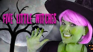 Five Little Witches | Kids Halloween Action Song