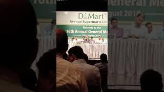 DMart AGM in August 2018 | Avenue Supermarts Ltd. | Ramesh Ji Damani