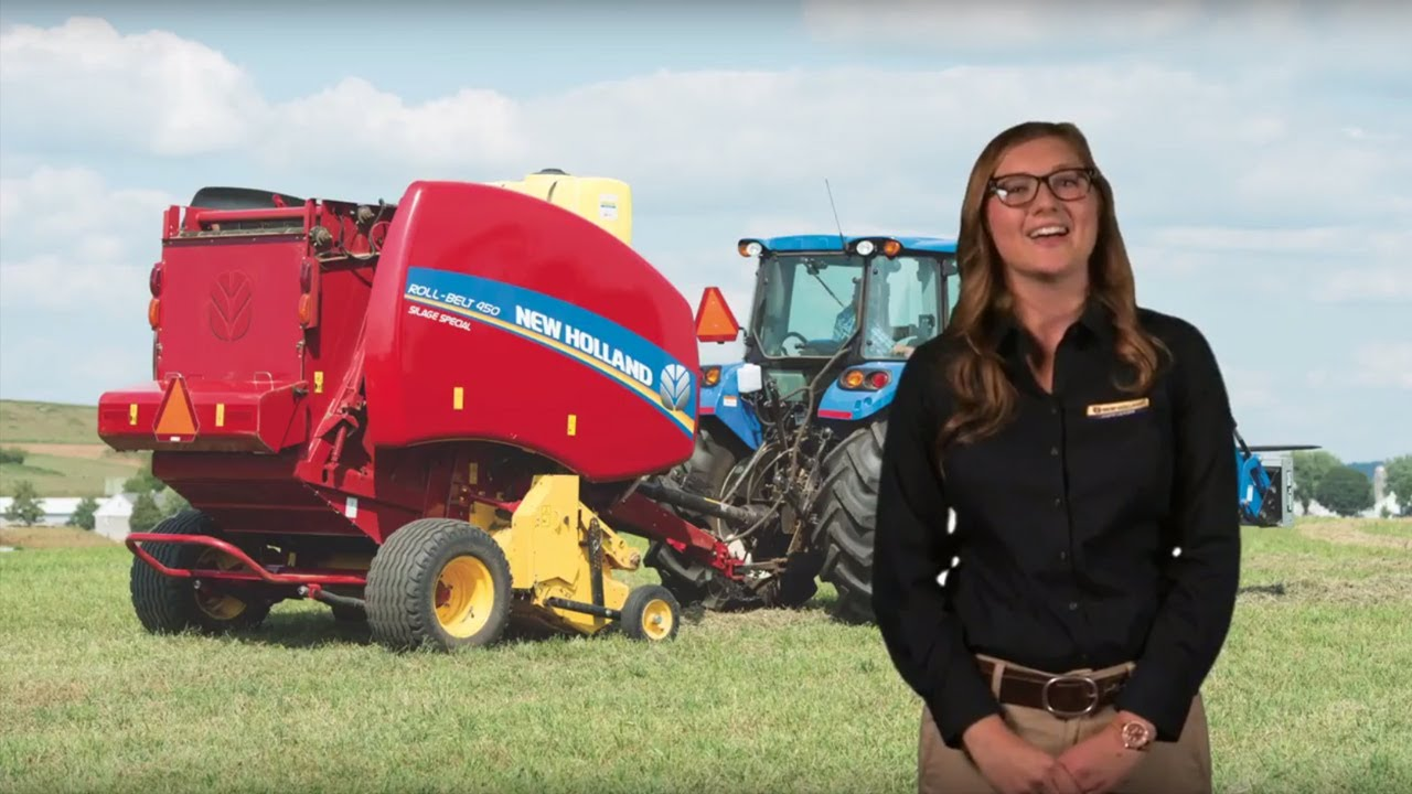 2018 New Holland Agriculture Roll-Belt™ Round Baler Roll