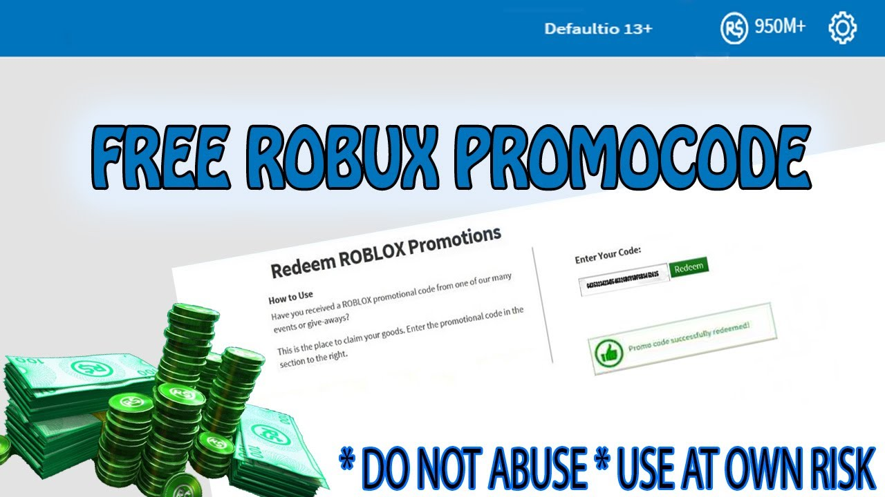 Generator Redeem Codes Robux