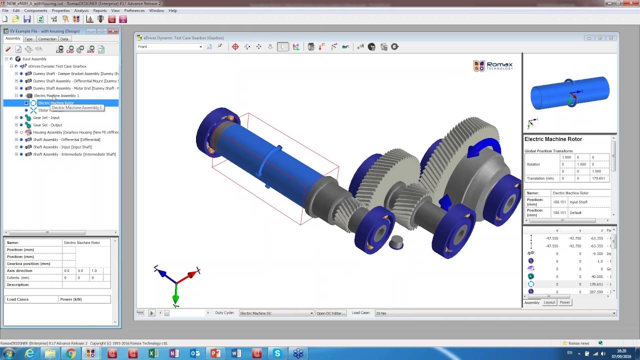Simulating Electric Vehicle Drivelines using a system software solution