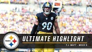 T.J. Watt put on a show vs. Falcons | Steelers Ultimate Highlight