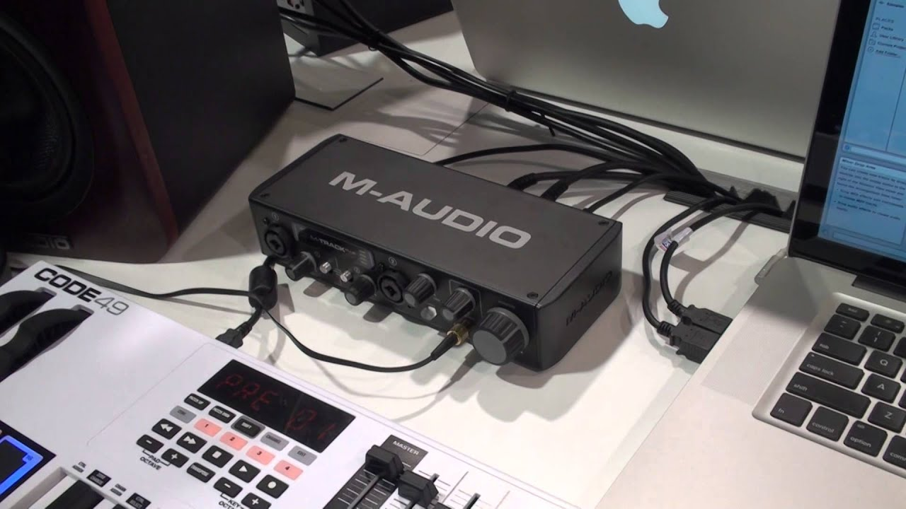 m audio m track plus audio interface namm 2015 with youtube. Black Bedroom Furniture Sets. Home Design Ideas