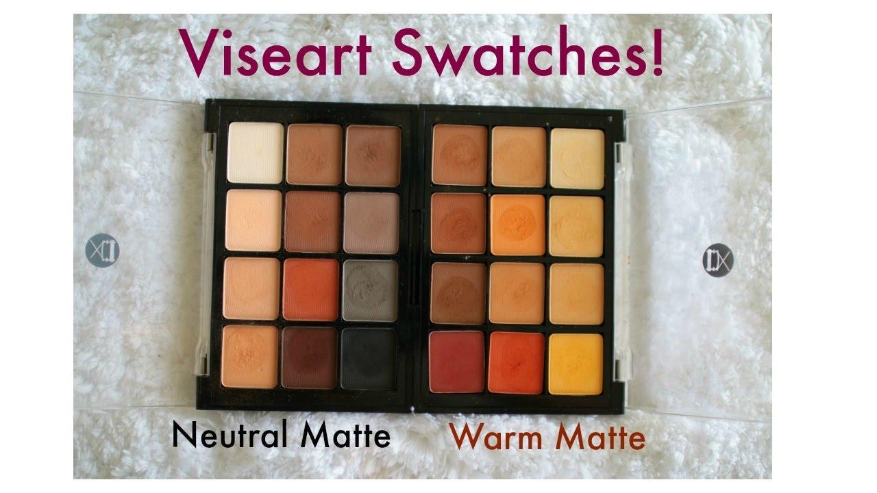 Viseart Neutral Matte eyeshadow palette and Warm matte eyeshadow ...