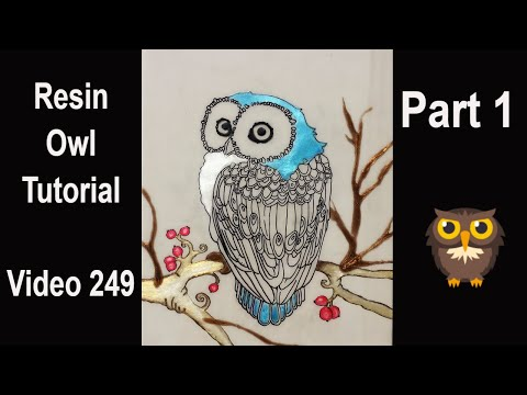 Make your own resin OWL/ resin and acrylics/ Step by Step tutorial/ my EASY technique