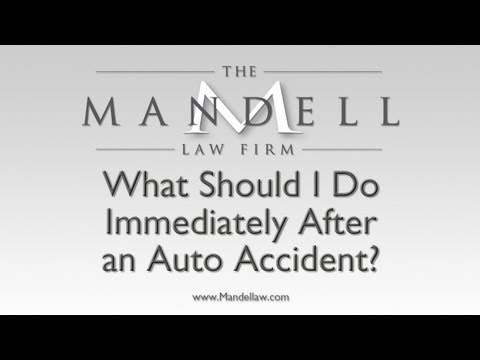 What To Do After An Accident - Northridge Personal Injury Lawyers - Mandell Law