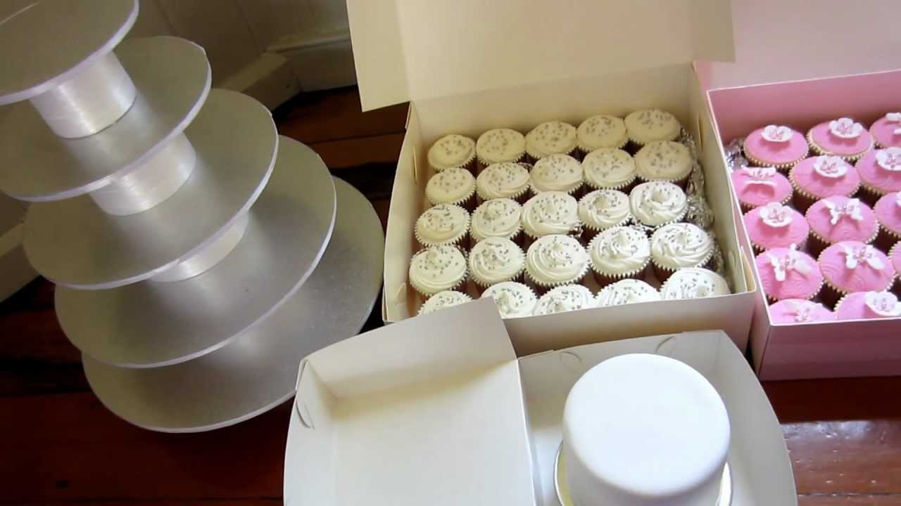 Wedding Cupcake Stand & Top Cake Ready To Set Up - YouTube