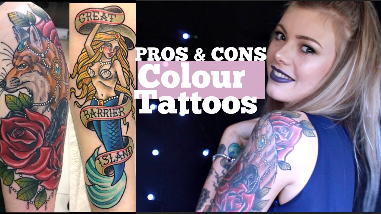 Colour vs black grey tattoos pros and cons youtube for Pros and cons of getting a tattoo