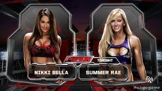WWE 2K15 - Nikki Bella vs Summer Rae   Divas Gameplay - ( Xbox One / PS4 )