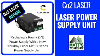 Co2 Laser Repair - Laser Power Supply Replacement, Видео