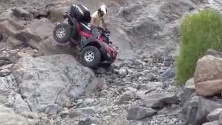 ATV HONDA RINCON  OFF ROAD  QUE CAIDAS  TO FALL   INCREDIBLE