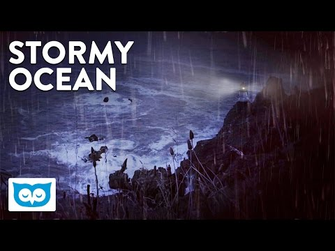 Ocean Storm at Night - 2 Hours Relaxing Wind, Rain, & Crashing Wave Sounds