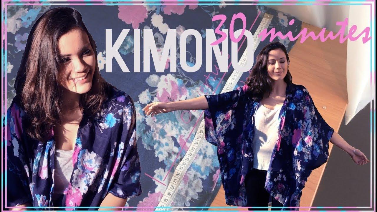 diy couture - comment faire un kimono en 30 minutes