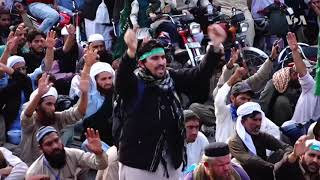 VOA Urdu: Radical Islamists continue protest against Government for allegedly supporting Ahmadis