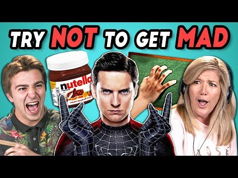 ADULTS REACT TO TRY NOT TO GET MAD CHALLENGE