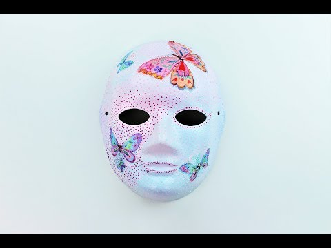 Decoupage Paper Mask Decoupage Painting Ideas Decoupage