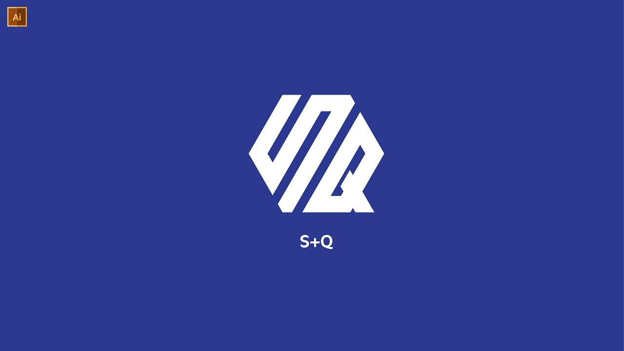 Professional SQ Polygon Logo Design In Illustrator   Modern Logo Design    Graphic Hunters