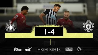 Newcastle United 1 Manchester United 4   Premier League Highlights