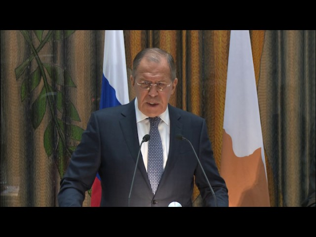 Пресс-конференция С.Лаврова и главы МИД Кипра
