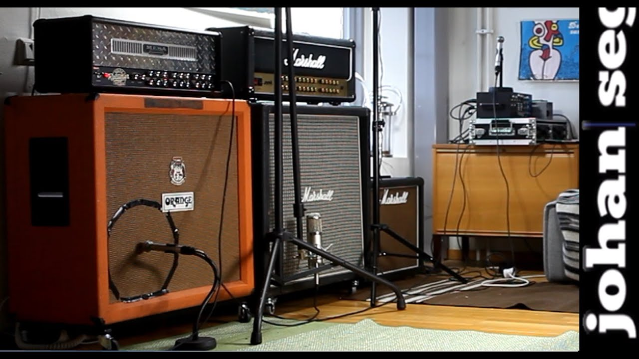 Microphone Positioning  Mesa Dual Rectifier and Vintage Orange Cab  YouTube