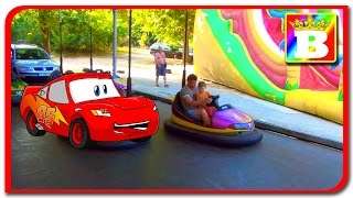 Fun MacQueen  Electric Cars for Kids and Family playlab at Bogdan's Show with Disney Princess Sofi.