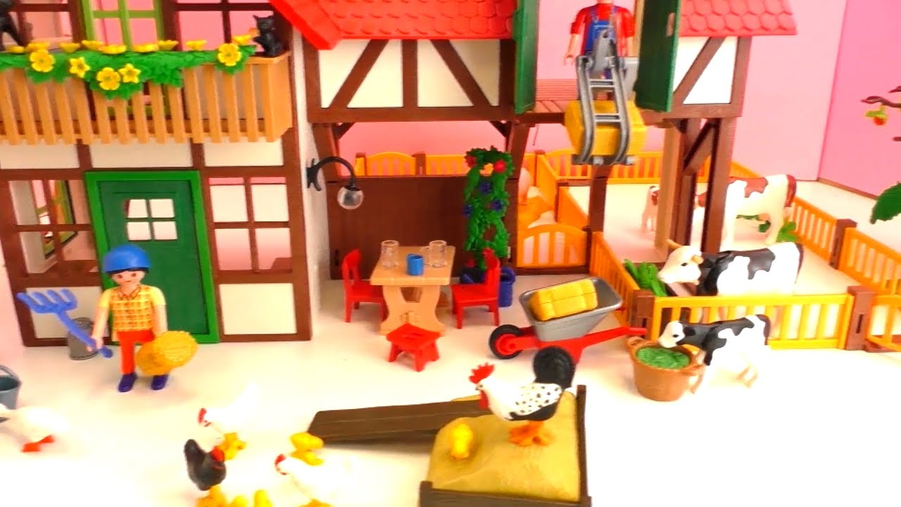 Construyendo la super granja de playmobil youtube for La granja de playmobil precio