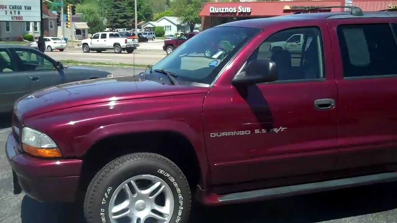 2001 dodge durango r t 4x4 7900 shottenkirk used car outlet
