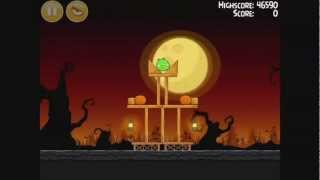 Angry Birds Seasons - Trick or Treat Level 1-1 Walkthrough 3 Stars