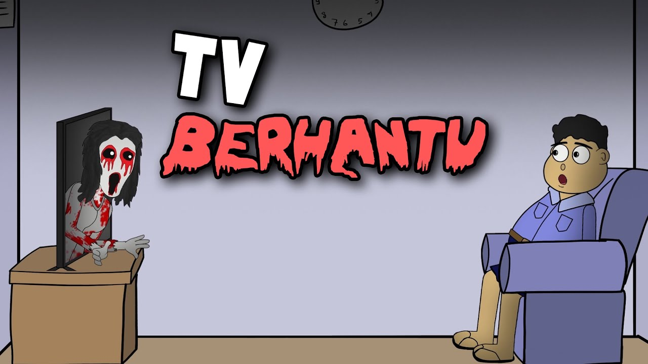 Misteri TV Berhantu - Animasi Horor Kartun Lucu - WargaNet Life