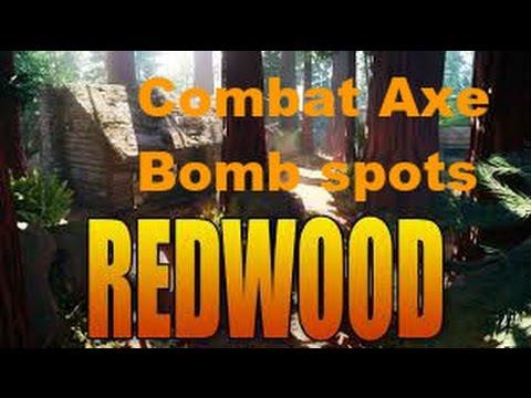 Call of Duty BO3 Redwood Combat Axe Bomb Spots