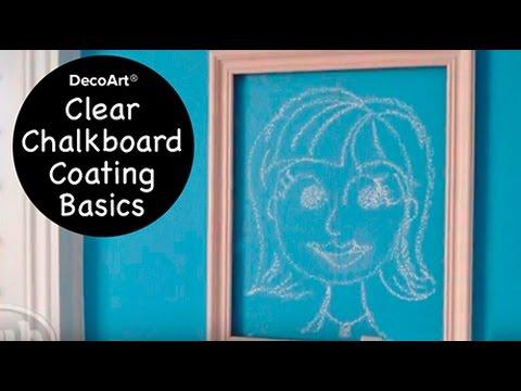 Clear Chalkboard Coating Basics Youtube